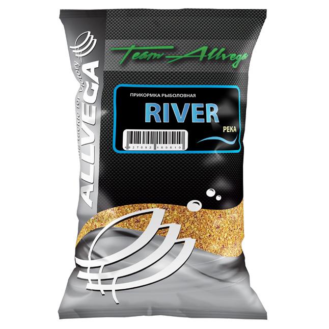 Прикормка Allvega Team River 1кг (РЕКА) (92299)Прикормки<br>Прикормка Team Allvega River создавалась специально для ловли на течении, поэтому она тяжелая. Эффективно удерживает прикормку в точке ловли даже на сильном течении большое количество клейких и питательных частиц.<br>