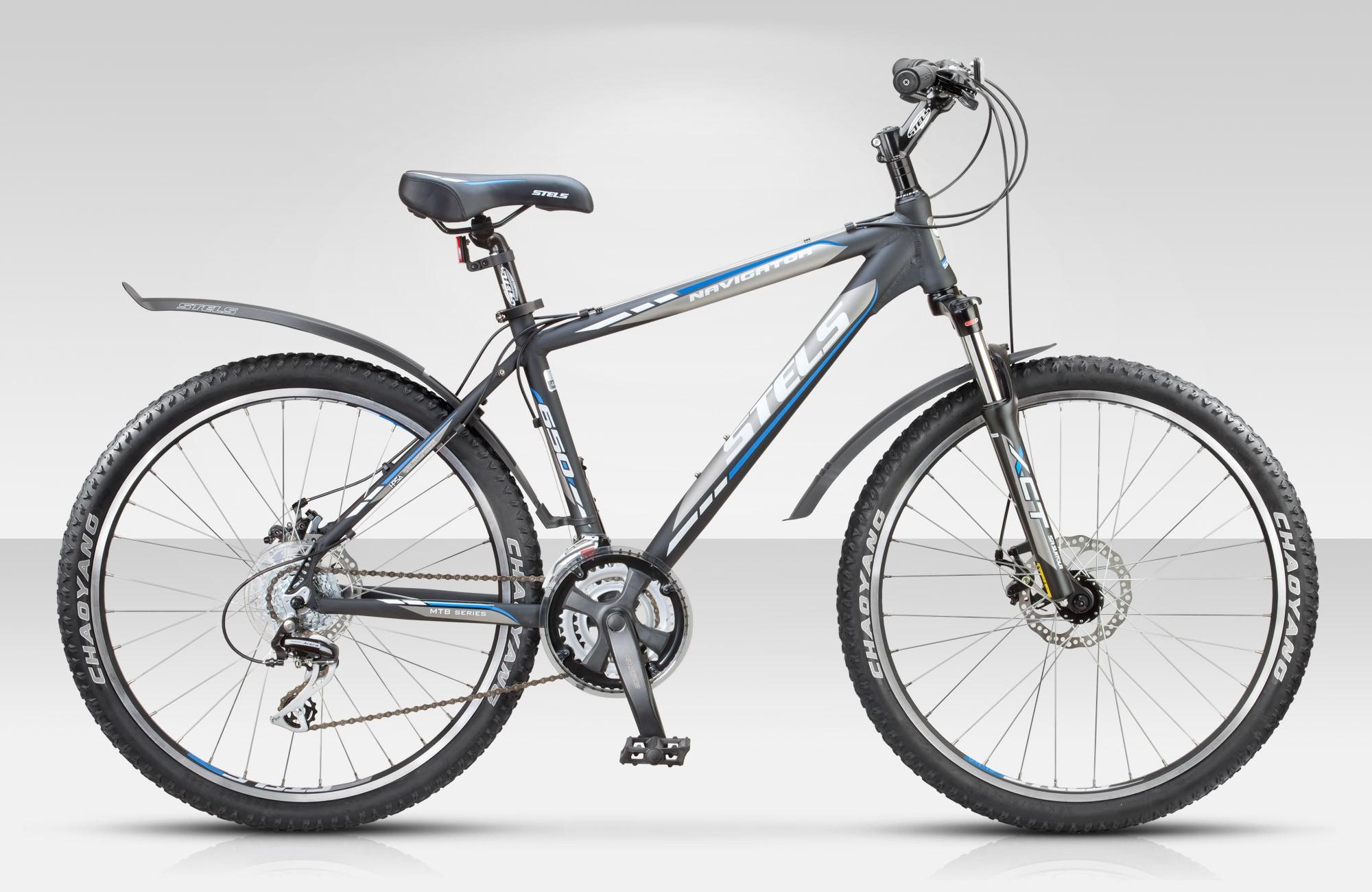 Велосипед Stels Navigator-650 MD 26.15Велосипеды Stels<br>Горный велосипед Stels Navigator 650 MD 2015 года является более продвинутой модификацией модели Navigator 650. Это отличный хардтейл, отличающийся хорошей манёвренностью, высокой динамичностью и эргономичностью. В основе модели Stels Navigator 650 MD – л...<br>