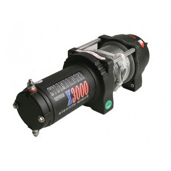 Лебедка электрическая Stormbringer X3000Лебедки<br>Лебедка электрическая Stormbringer X3500 поможет при буксировке даже к экстремальной ситуации<br>