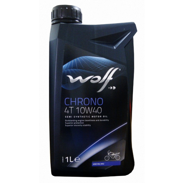 МаслоWolf Chrono 4T 10W40 1LМасла и ГСМ<br>Синтетическое масло для четырехтактных двигателей предназначено для нормального и интенсивного использования. Имеет улучшенную формулу с присадками для экстремальных нагрузок.<br>
