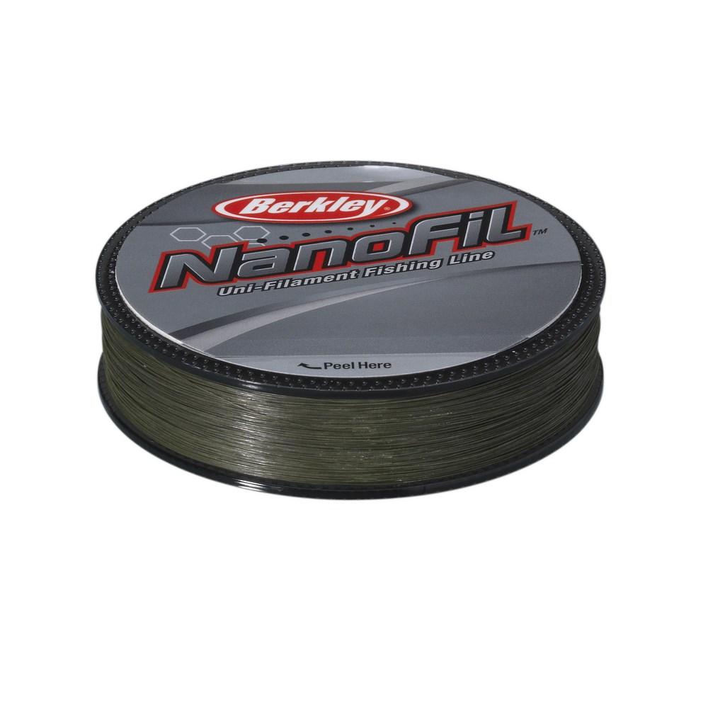 Леска плетеная Berkley Nanofil Lo-Vis Green 125м, #0.11, 5.7кг (61715)NanoFil<br>Леска плетеная Berkley Nanofil Lo-Vis - это уникальное явление на рыболовном рынке – впервые удалось достигнуть высокой прочности и низкой растяжимости при крайне малых диаметрах.<br>