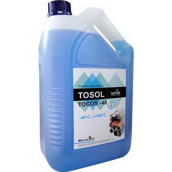 Тосол Sapfire -40C 5 кгМасла и ГСМ<br>Тосол Sapfire изготавливается на основе моноэтиленгликоля высшего сорта с добавлением многокомпонентного сбалансированного пакета присадок. Обеспечивает коррозийную защиту металлов и сплавов, применяемых в двигателях. Нейтрален к резиновым и неопреновым м...<br>
