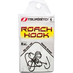 Крючки рыболовные Tsuribito Roach Hook №4 (в упак. 10шт.) (BN)Одинарные крючки<br><br>