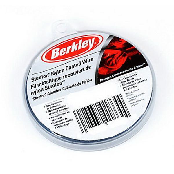Поводковый материал Berkley Mc Mahon Steelon Nylon coated (30lb) (71280)Поводки<br>Качественный поводковый материал с высокой прочностью на линейных и узловых участках. В процессе использования проявляет отличные прочностные характеристики.<br>