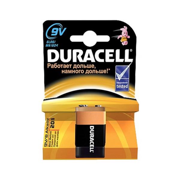 Элемент питания Duracell 6LR61 (MN1604) 9V (1 шт)