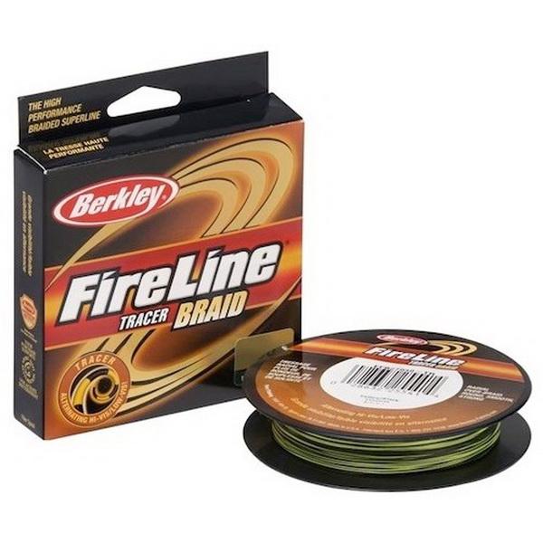 Леска плетеная Berkley FireLine Braid Tracer 0,23мм, 25,7кг, 110м (61745)Плетеные шнуры<br>Шнур идеален для ловли спиннингом, цветная раскраска для контроля длины размотки.<br>