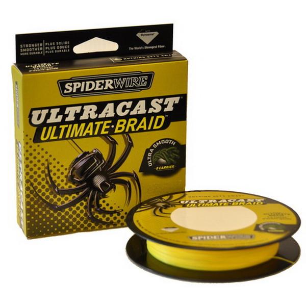 Леска плетеная Spiderwire Ultracast 8 Carrier Hi Vis Yellow 0.12мм, 9.1кг, 270м 1278828 (73821)Плетеные шнуры<br>Spiderwire Ultracast 8 Carrier Invisi – очень прочный, тонкий и износостойкий шнур.<br>