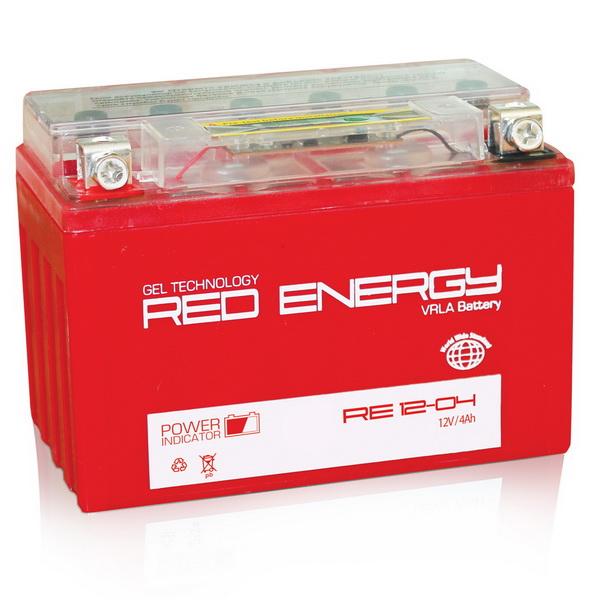 Аккумулятор Red Energy RE 12-04Аккумуляторы<br>Аккумулятор с напряжением 12V, предназначенный для использования в дизельных генераторах, мотоциклах, водных мотоциклах и другой технике.<br>