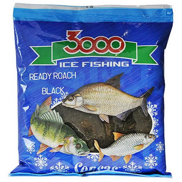 Прикормка Sensas зимняя готовая 3000 Roach Black 0,5кг