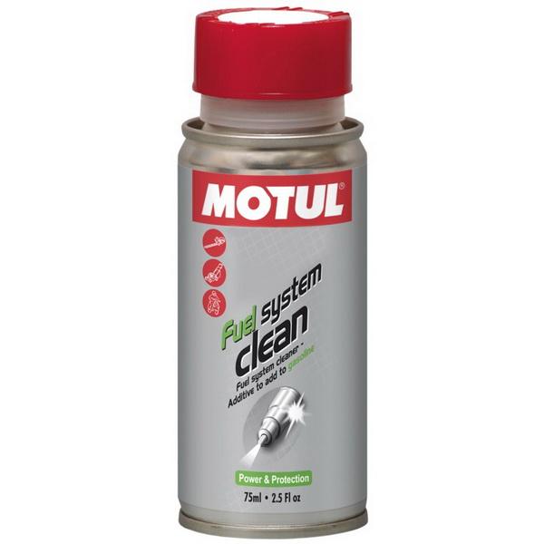 Очиститель Motul топливной системы универсальный (0,075л.)Масла и ГСМ<br>Эффективное средство для промывки топливной системы автомобиля. Удаляет все виды загрязнений и отложений.<br>