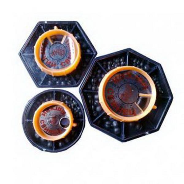 Грузила Salmo Дробинка мягк.Грузила, отцепы<br>Мягкие свинцовые грузики в виде дробинок. Набор упакован в коробку, разделенную на 4 секции. Дробинка легко фиксируется на леске, не требуя дополнительных элементов. Благодаря шарообразной форме, в воде создается минимальное сопротивление. Используя грузи...<br>
