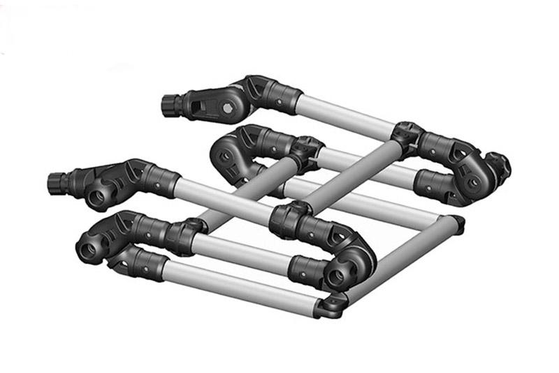 Лестница Fasten складная из алюминиевой трубыАксессуары для надувных лодок<br>Быстросъемная трехсекционная складная лестница Fasten для лодок. Три ступени, опорами являются два универсальных замка. Компактна в сложенном состоянии. Конструкция имеет поворотные сочленения, что позволяет повторить форму надувного борта и сложить лестн...<br>
