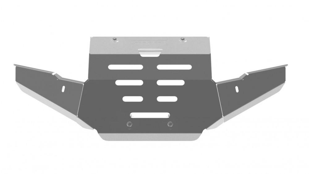 Защита Allest бампера и радиатора 500 Kazuma/500 GTЗапасные части<br>Allest - один из ведущих российских производителей современного высококачественного защитного и защитно-декоративного навесного оборудования для автомобилей и ATV-техники. Алюминиевая защита 4 мм для бампера и радиатора 500 Kazuma/500 GT.<br>