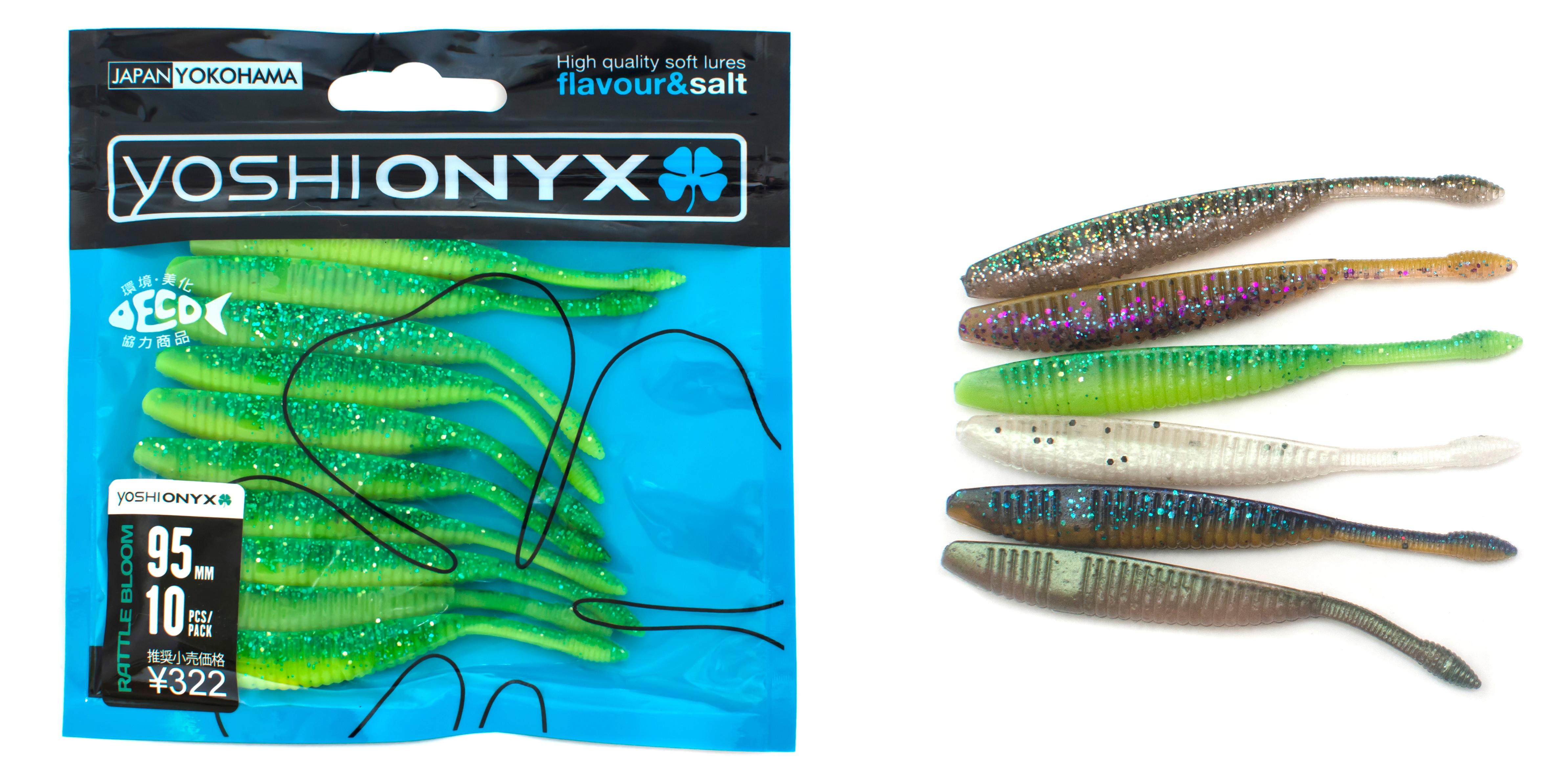 Приманка Yoshi Onyx Rattle Bloom 3.7Мягкие приманки<br>В основе нового ассортимента Yoshi Onyx – мягкие приманки, предназначенные  для ловли крупного хищника. Отличительной чертой новых силиконовых приманок являются интересные формы и неожиданные цветовые решения.<br>