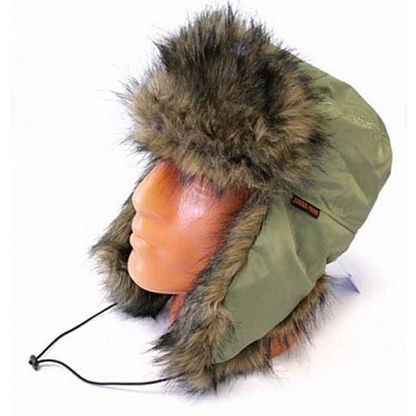 Шапка Zabava-Prime Аляска, Мех Медведь плащевка, цвет зеленый, размер LШапки/шарфы<br>Зимняя шапка с верхом из плащевых материалов, отделанная мехом.<br>