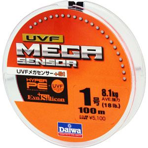 Леска Daiwa UVF Megasensor + Si #1-100 (25117)Плетеные шнуры<br>Cпециальной обработкой при помощи системы UVF (Ultra Volume Fiber)<br>