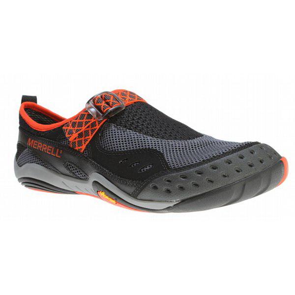 Полуботинки Merrell мужские Rapid Glove men`s shoes Black/Granite р.9HМокасины и полуботинки<br>Модель для активного отдыха и повседневной жизни<br>