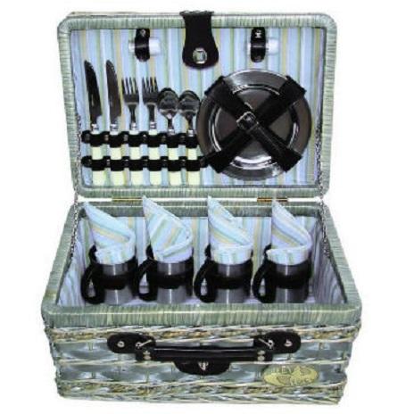 Корзина GreenWay для пикника на 4 персоны, ива 10034-GYBАксессуары<br>Основную проблему, которую помогают решить наборы для пикника - это  удобство и экономия времени. Корзины идеально подходят для семейных выездов на пикники.  Помимо посуды, в корзины можно положить продукты и напитки.<br>