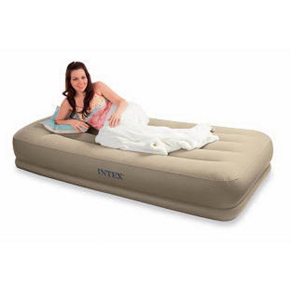Кровать Intex с подголовником беж. 102х203х38см с встр.эл.насос. 220В