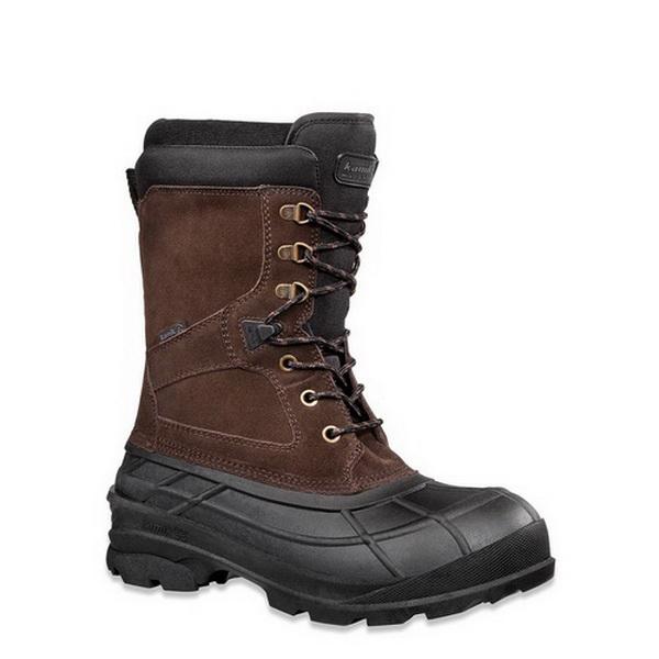 Ботинки Kamik Nationplus, мужск., верх: комбинированные, р-р 43, цвет темно-коричневый (42471)Ботинки<br>Мужские ботинки Kamik Nationplus долговечные, водонепроницаемые и прочные. Легкие и удобные они отлично подойдут для рыбалки, охоты или путешествий зимой на морозном воздухе.<br>