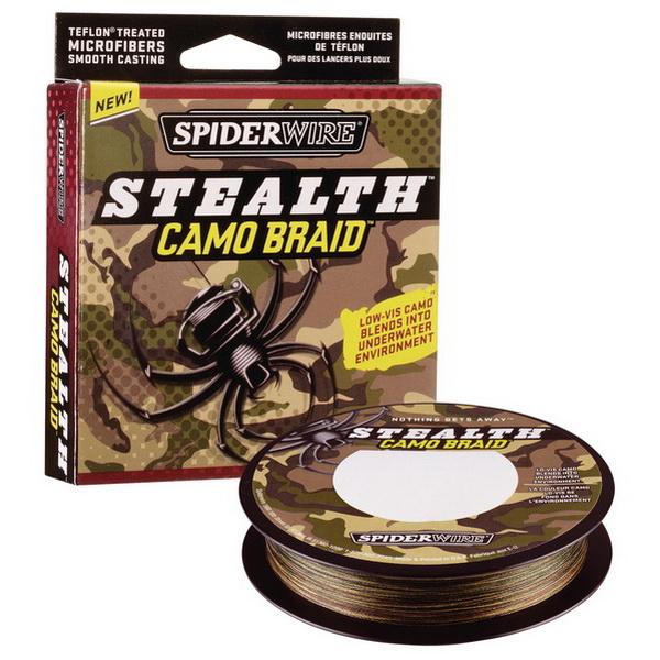 Леска плетеная Spiderwire Stealth Camo 110м, #0.12, 7.1кг, 1152380 (73852)Плетеные шнуры<br>Привлечет внимание заядлых спиннингистов и любителей плетенок.<br>