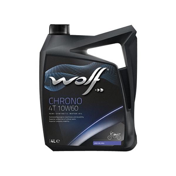 МаслоWolf Chrono 4T 10W60 4LМасла и ГСМ<br>Полусинтетический материал для смазки двигателей. Создан на основе тщательно отобранных базовых масел с высокой степенью очистки.<br>