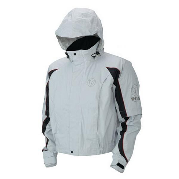 Куртка Varivas VARS-06 Dry Armour Short Rain Jacket, Grey, 3L (82108)Куртки<br>Ветровка из современного материала DRY ARMOUR, обладающего хорошими водонепроницаемыми и ветрозащитными свойствами. Куртка имеет капюшон.<br>