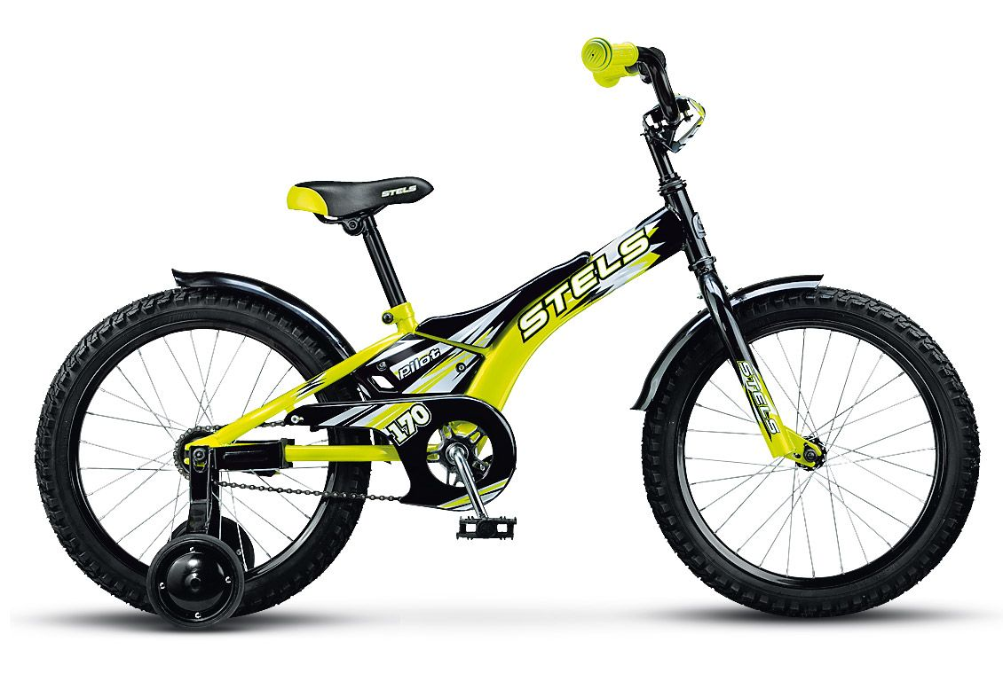 Велосипед Stels Pilot-170 16.15Велосипеды Stels<br>Детский велосипед Stels Pilot 120 16 2015 года уже успел завоевать сердца маленьких поклонников велодвижения. Малышам нравится в нем решительно все, включая необычный дизайн, удобную корзинку для игрушек, съемные колесики, благодаря которым катание стано...<br>