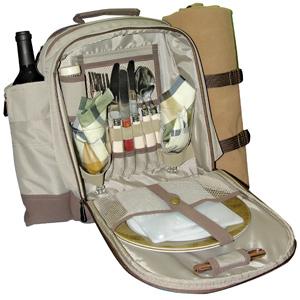 Пикниковый набор  Adrenalin Любимая половинкаНаборы для пикника<br>Этот набор содержит все необходимое для романтического ужина на природе: столовые приборы, тарелки, солонка, перечница, плед, бокалы, салфетки, открывашка, разделочная доска, нож. Набор посуды и столовых приборов упакован в удобный и красивый рюкзак. В рю...<br>