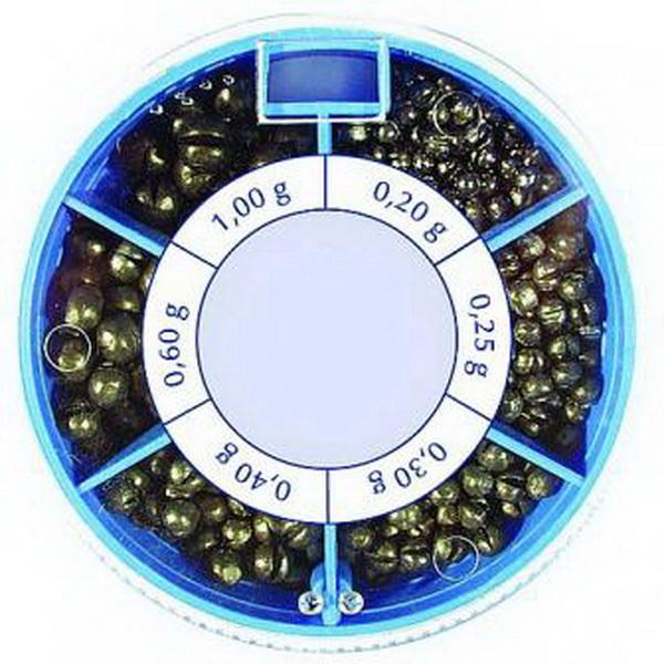 Грузила Salmo Дробинка 6 секц. крупн. 100г набор (51600)Грузила, отцепы<br>Крупные свинцовые дробинки для поплавочной ловли. Дробинка легко фиксируется на леске, не требуя дополнительных элементов. Благодаря шарообразной форме, в воде создается минимальное сопротивление. Используя грузила, можно прямо на месте рыбалки создать не...<br>