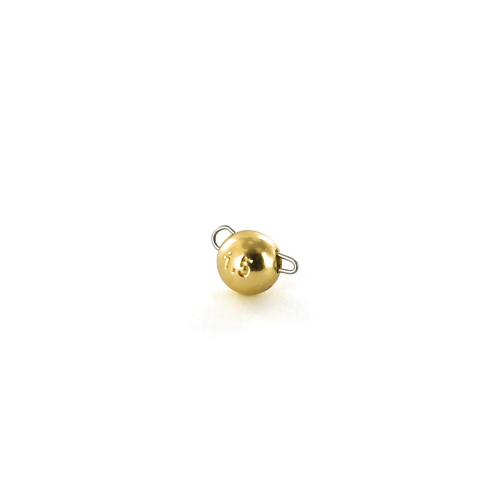 Чебурашка вольфрамовая Tsuribito Tungsten Weights Calibrated Jig Sinker, 1.5 г, 8 шт., цвет золото (93506)Джигголовки, Чебурашки<br>Материал: вольфрам<br>