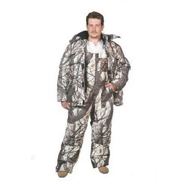 Костюм Патрон Следопыт-ЛюксКостюмы/комбинезоны<br>Демисезонный маскировочный костюм из утепленной куртки и брюк. Центральная застежка закрыта ветрозащитной планкой.<br>