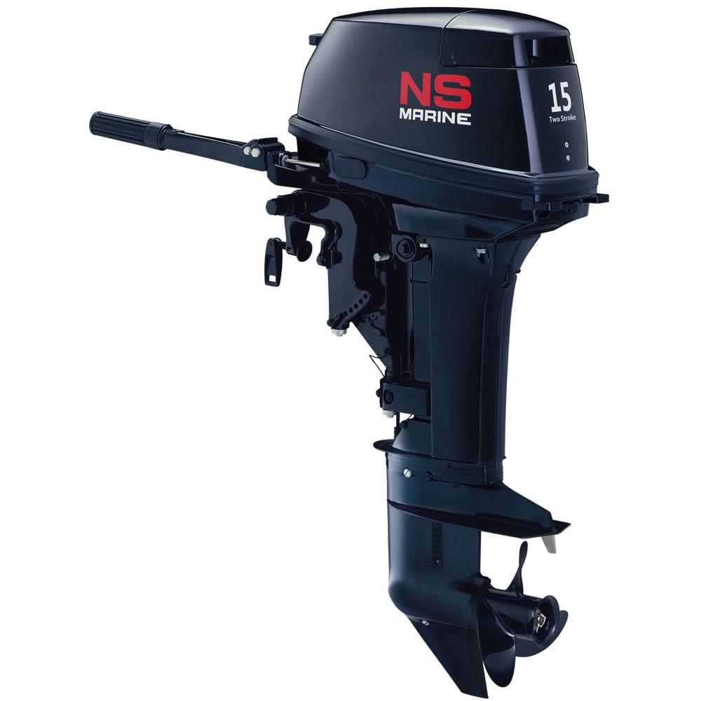 Лодочный мотор Nissan Marine NS 15 D2 1Подвесные моторы<br>Для поклонников простых и отработанных конструкций Nissan Marine предлагает двухтактный двухцилиндровый мотор Nissan Marine с мощностью 15 л.с.<br>