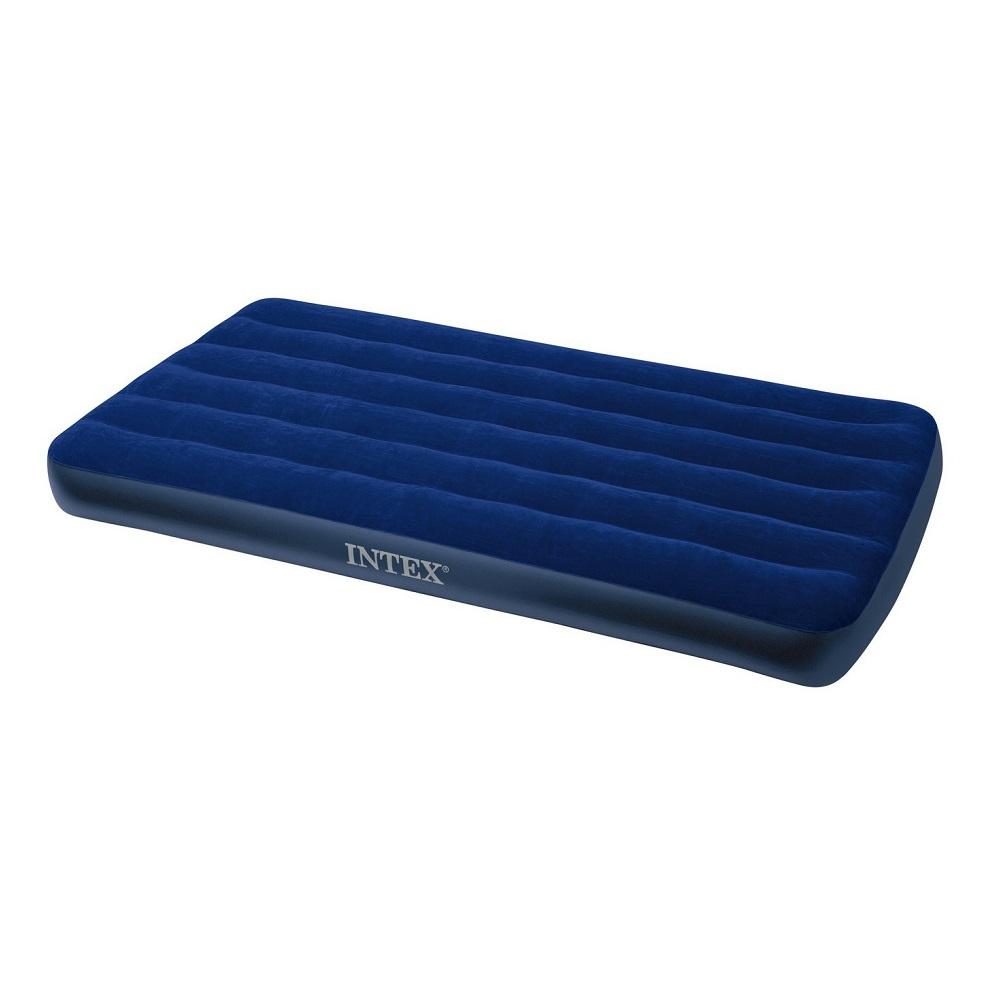 Матрас Intex Надувной Classic Downy Bed, Twin, 99х191х22 см 68757Надувные матрацы<br>носпальная  кровать Classic Downy Bed   Twin Size  - удобна, долговечна и красива, в сложенном виде компактна, это прекрасный выбор для дома, дачи и отдыха на природе. Ворсистая поверхность легко чистится и моется, не пропускает влагу, предотвращает сполз...<br>