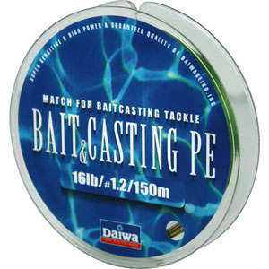 Леска Daiwa Bait Casting Pe 16 Lb (25133)Плетеные шнуры<br>Леска плетеная Bait &amp; Cast PE - изначально была адаптирована производителем под мультипликаторные катушки. Сравнивая с классическими PE шнурами, у лески плетеной Daiwa Bait &amp; Casting прослеживается в несколько раз большая жесткость. Это преимущество с бол...<br>