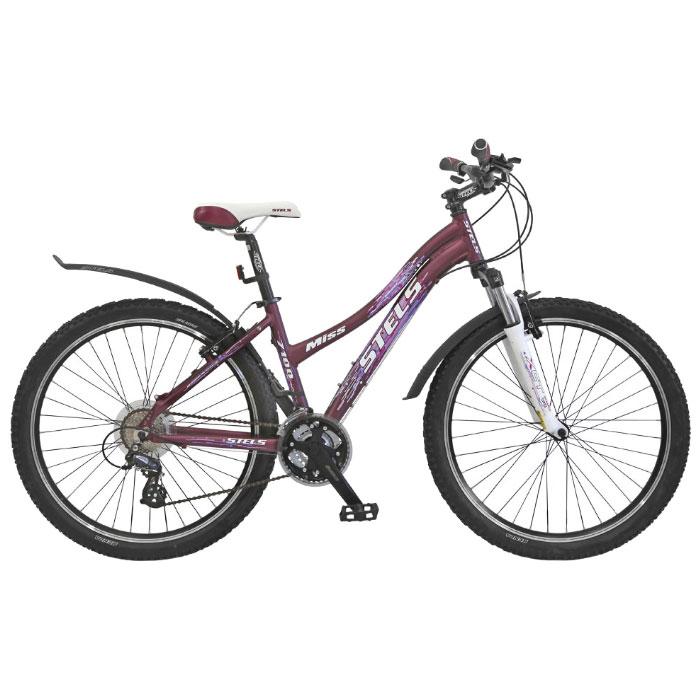 Велосипед Stels Miss-7100 26Велосипеды Stels<br>Кататься на нём можно не только в черте города, но и выезжать на просторы пересечённой местности. В это деле Вам помогут такие технические характеристики, как надёжная система торможения, отличный накат и проходимость, мягкая амортизационная вилка.<br>