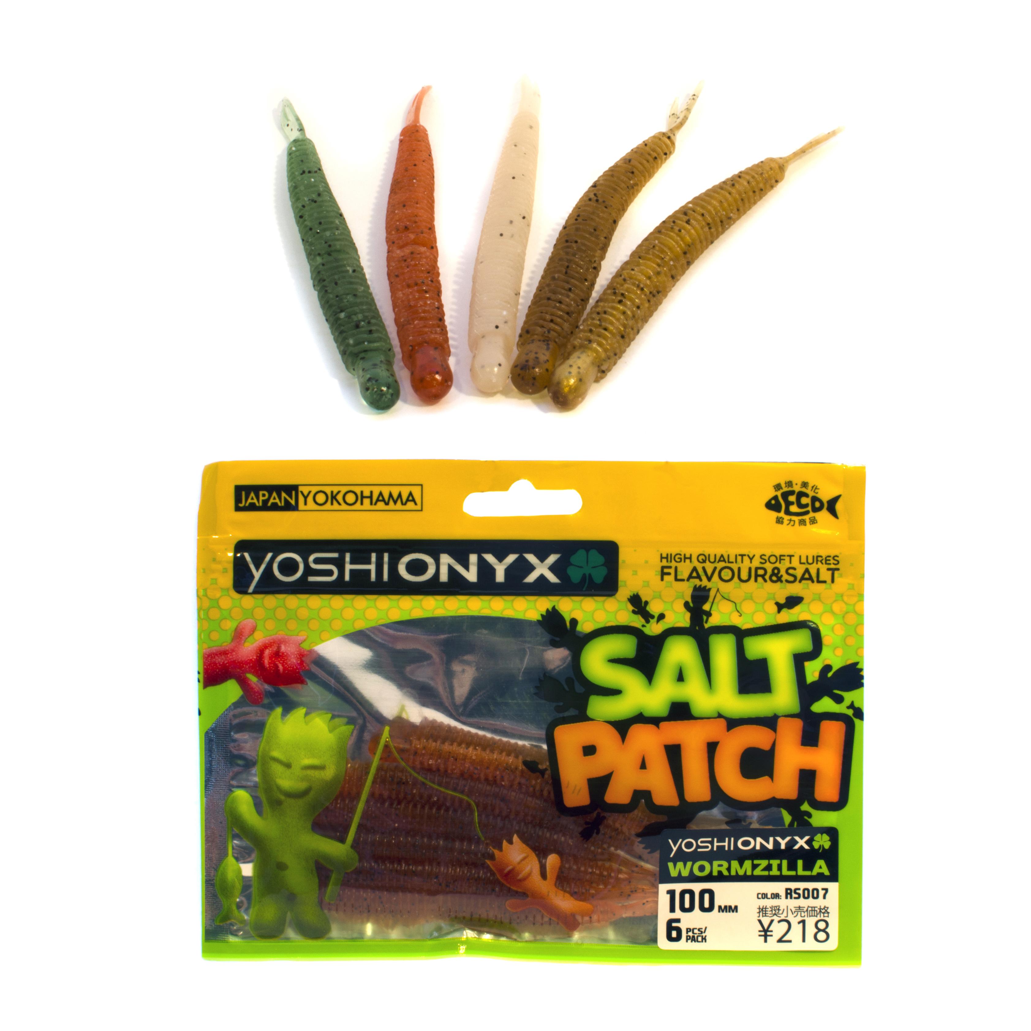 Приманка Yoshi Onyx Salt Patch Wormzilla 3.9Мягкие приманки<br>Новая линейка мягких приманок от бренда Yoshi Onyx<br>