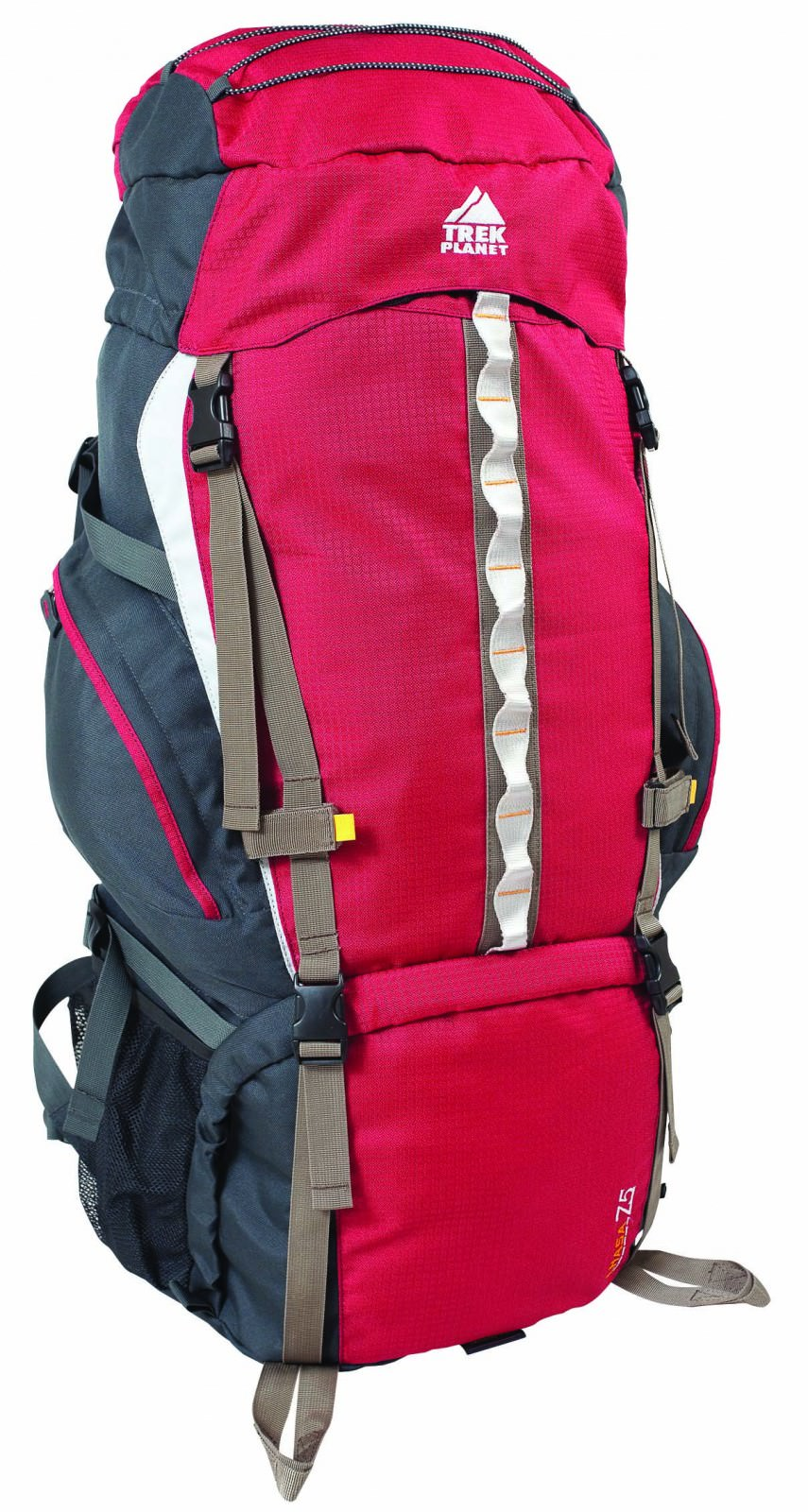 Рюкзак TREK PLANET Kailash 75Рюкзаки<br>Технические детали:<br>Трекинговые рюкзаки с многофункциональной навеской для снаряжения и дополнительным входом в нижнее отделение.<br>Анатомическая вентилируемая спина и лямки рюкзака с регулировкой по размеру, обеспечивают комфортное прилегание к спине и н...<br>