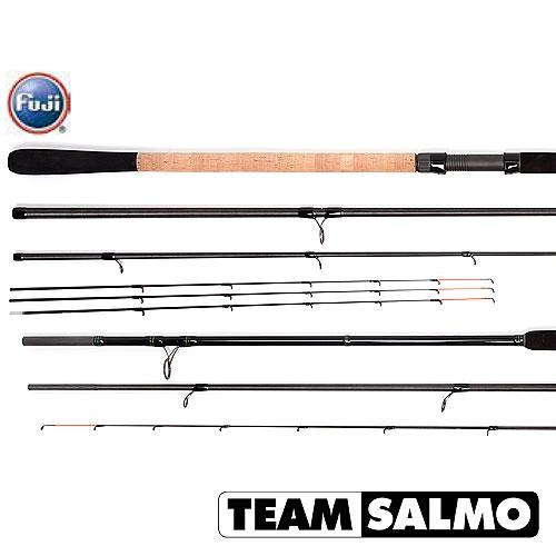Удилище фидерное Salmo Team ENERGY Feeder 100 (92990)Удилища фидерные<br>Серия фидерных удилищ TEAM SALMO Energy Feeder, предназначена для различных условий ловли. Шесть удилищ серии, изготовленные из карбона T36, позволят ловить рыбу как легкими кормушками на близком расстоянии, так и на больших реках с кормушками весом до 18...<br>