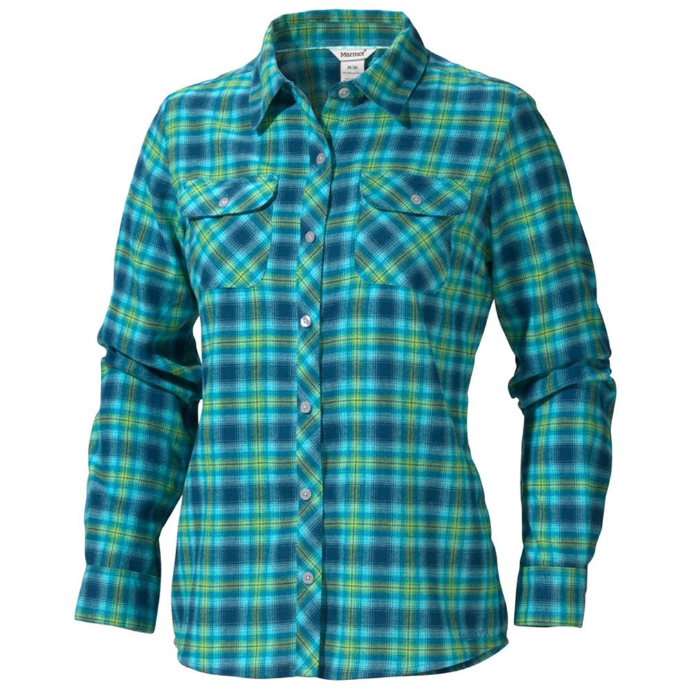 Рубашка Marmot Wms Southshore Flannel LS, Mosaic Blue, XSРубашки<br>Рубашка Marmot Wms Southshore Flannel LS, Mosaic Blue, XS<br><br><br>    <br>  <br><br>Уютная, милая и практичная осенне-зимняя рубашка. Мягкая, но плотная фланелевая ткань согреет вас и защитит от ультрафиолета. Полое волокно быстро сохнет и хорошо отводит влагу. Д...<br>