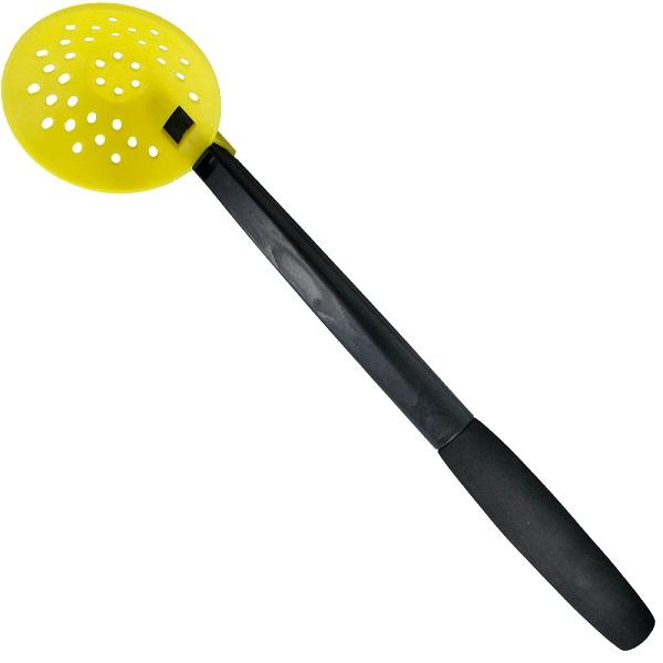 Черпак Trout Pro рыболовный пластиковый 90мм QL-S1501  (52557)Черпаки<br>Черпак пластиковый, диаметр 90 мм. Ручка - неопрен. Очень крепкий пластик, не тонет.<br>