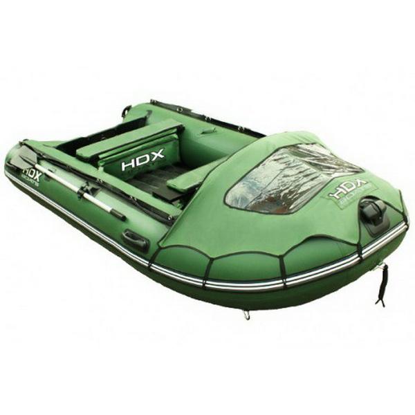 Лодка HDX Надувная, Модель Helium 370 Am (многобаллонное дно), цвет зеленый