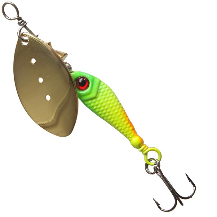 Блесна San Spinner GAMMA 6S-302 (108803)Блесны<br>Блесна SAN-SPINNER GAMMA - вертушка с огруженным сердечником в форме рыбки. Тело рыбки имеет качественную нейтральную окраску с чёрной спинкой и глазом.<br>