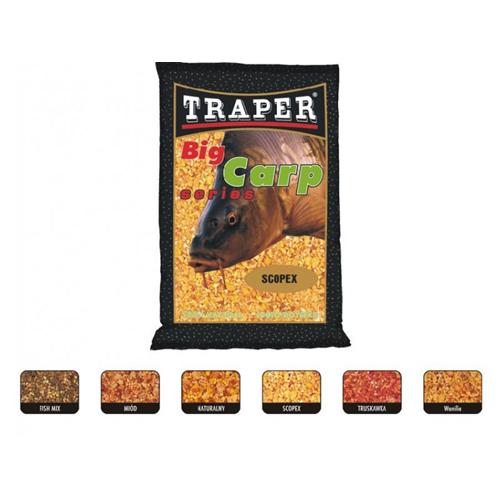 Прикормка Traper Big Carp Scopex (Скопекс) 1кг 00095Прикормки<br>Линия специализированной спортивной прикормки предназначенной для ловли большой рыбы семейства карповых.<br>