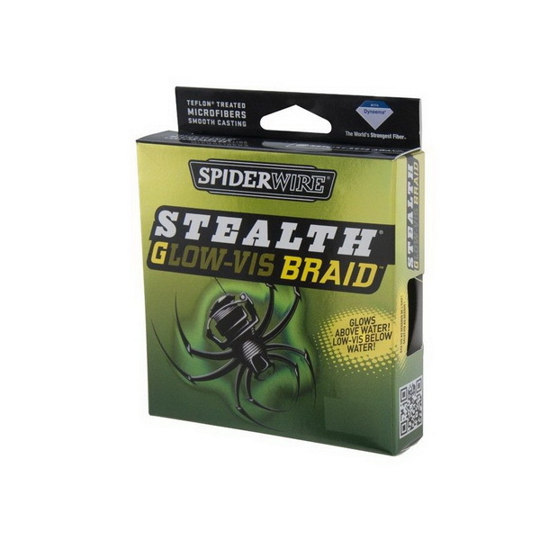 Леска плетеная Spiderwire Stealth Glow-Vis 0.12мм, 7.1кг, 270м 1303914 (73843)