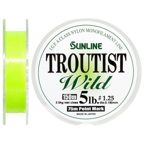 Монолеска Sunline TROUTIST WILD 150MМонофильные лески<br>Sunline Troutist Wild – одна из популярная лесок для ловли лососевых рыб на естестенных водоемах во всем мире. Очень мягкая, обладающая отличными кастинговыми характеристиками за счет трехкратного покрытия полимером. Sunline Troutist Wild выпускается в ди...<br>