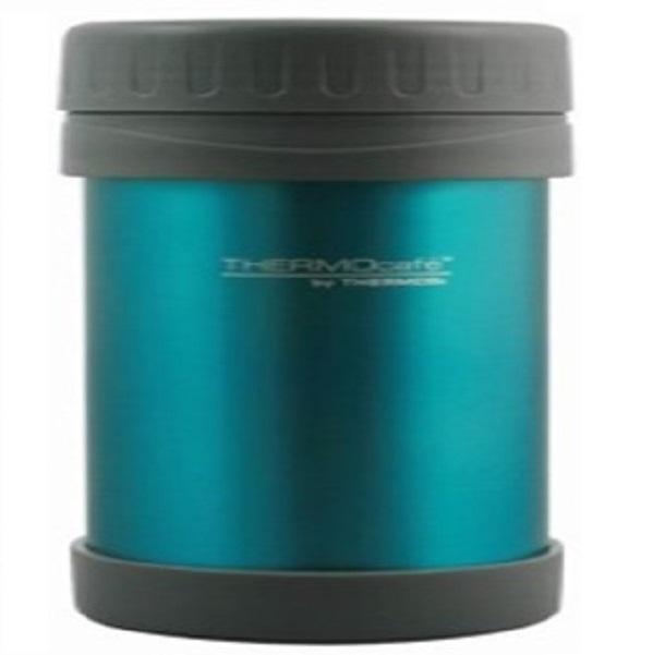 Термос Thermos для еды со стальной колбой JNL-350, синий с серым пластикомТермосы<br>Термос из нержавеющей стали с широким горлом. Предназначен для переноски и сохранения температуры вторых блюд. Объем рассчитан на одну среднюю порцию.<br>