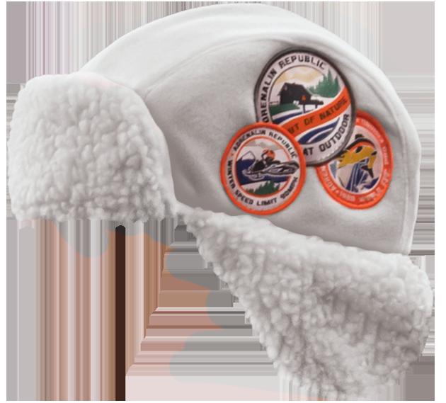 Шапка-ушанка Adrenalin Republic Helmet белая (90174)