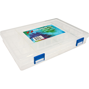 Коробка Tsuribito MP300Коробки<br>Удобная пластиковая коробка Tsuribito для хранения и транспортировки приманок. Коробка имеет 12 съемных перегородок, которые позволяют изменять размер каждого отделения. Размер  25,5 х 18,8 х 4см.<br>
