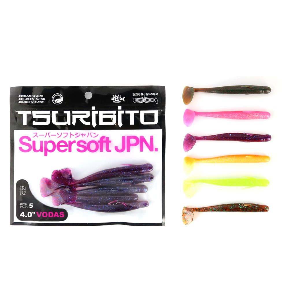 Приманка Tsuribito Supersoft Vodas 4Мягкие приманки<br>Новая линейка мягких приманок от бренда Tsuribito<br>